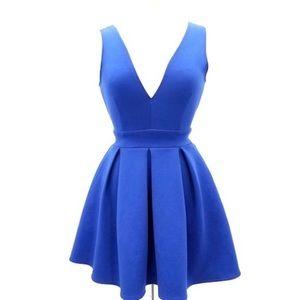 ALYTHEA Ladies Fit Flare Blue Dress      Size XS